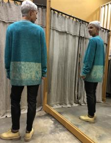 Pull turquoise MM6