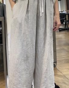 Pantalon lin ficelle