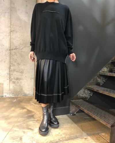Jupe noire plissée Acné Studios