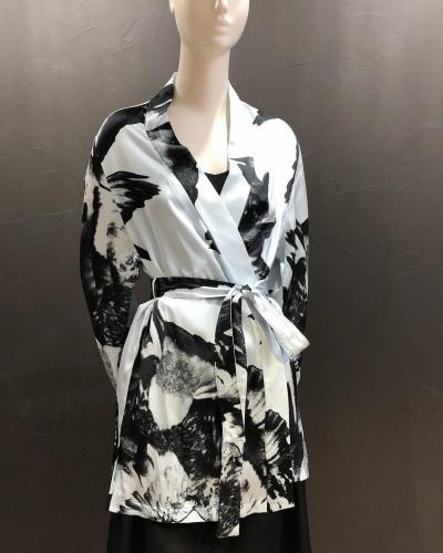 Kimono soie imprimée