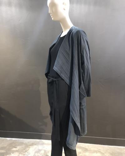 Veste longue jersey froissée