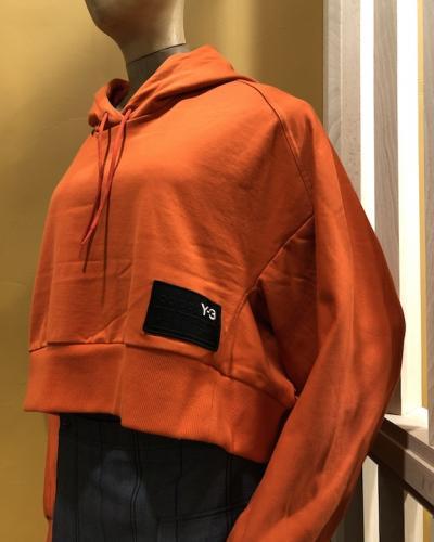 Sweat orange à capuche