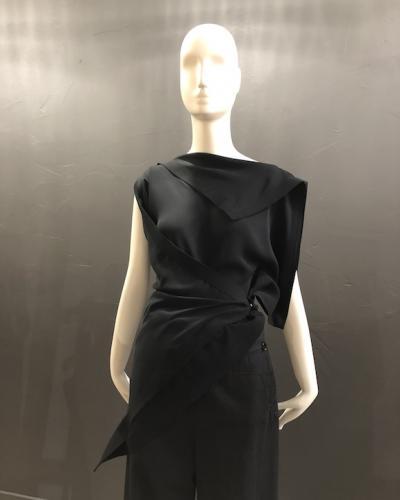top asymétrique noir