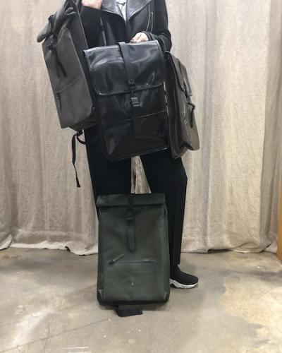 Sacs Rains Roll Top Rucksac Green