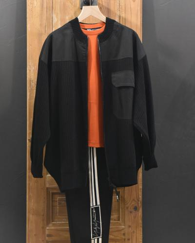 Veste tricot zippée